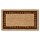 Коврик придверный Kokarda «Меандр», 40 х 70 см, коричневый, прямоугольный