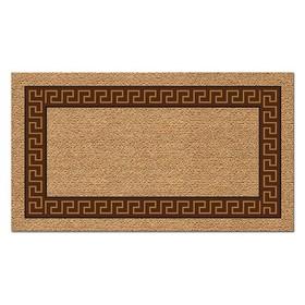 Коврик придверный PHP SRL Kokarda «Меандр», 40 х 70 см, коричневый, прямоугольный