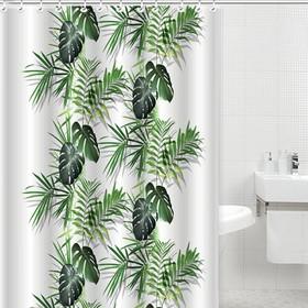 Шторка для ванной Dasch, 180×200 см, рисунок джунгли