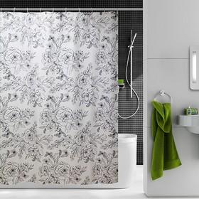 Шторка для ванной Dasch, 180×200 см, рисунок эскиз