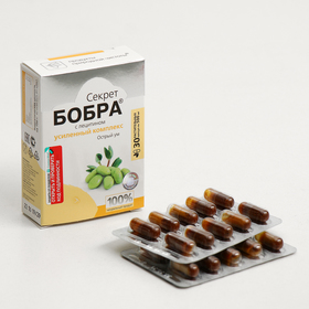 "Натуральные капсулы ""Секрет бобра"" с лецитином Острый ум, №30*0,5 г"