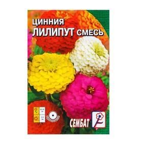 Семена цветов Циния 'Лилипут' смесь, 0,3 г Ош