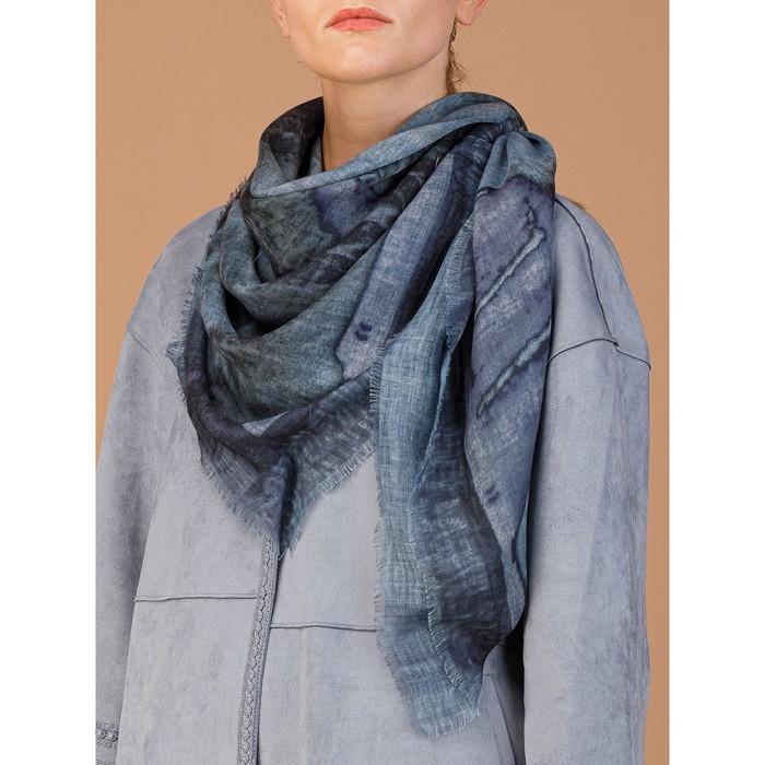 Платок женский 120×120 см, светло-серый