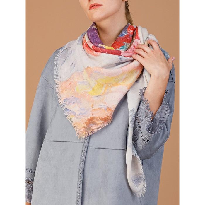 Платок женский 135×135 см, фиолетовый