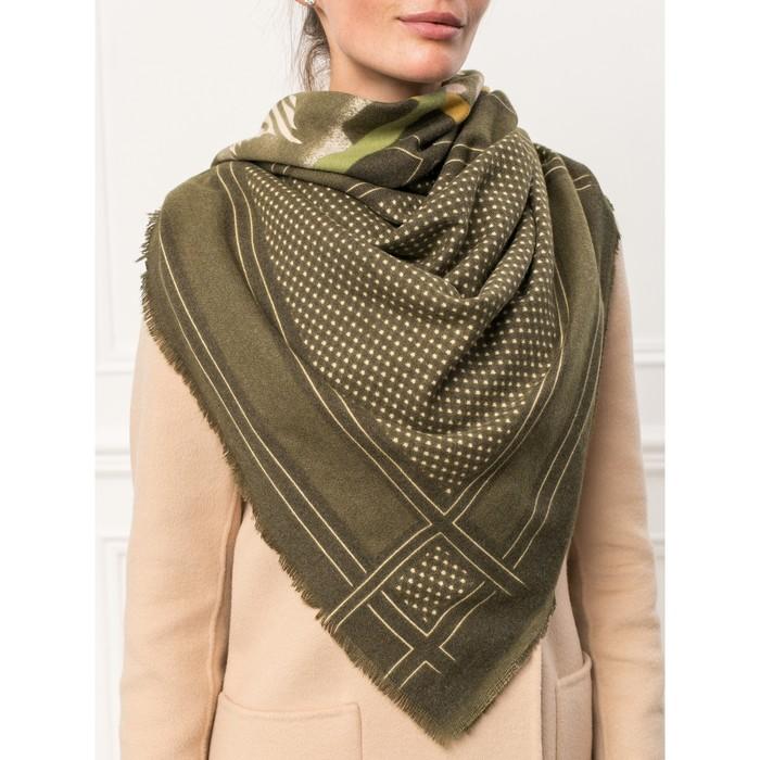 Платок женский 130×130 см, зелёный