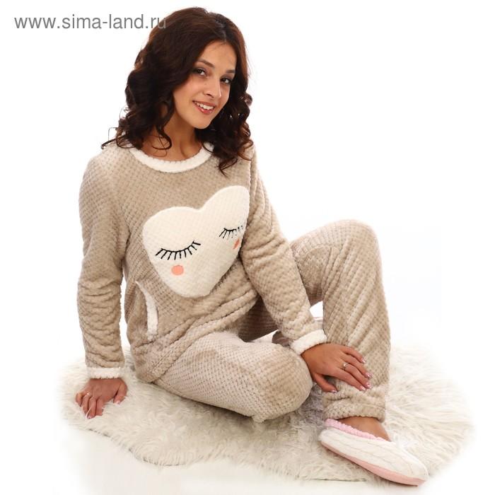 Костюм женский (толстовка,брюки) «Бианка», цвет бежевый, размер 48