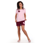 Костюм женский (футболка, шорты) «Тася», цвет нежно-розовый, размер 44