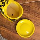 "Фигурное кашпо ""Жираф"", жёлтый, керамика, 2.3 л - Фото 6"