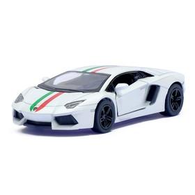 Машина металлическая Lamborghini Aventador LP 700-4, 1:38, открываются двери, инерция, цвет белый