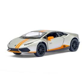 Машина металлическая Lamborghini Huracán LP610-4 Avio matte, 1:36, инерция, цвет серебристый матовый