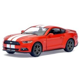 Машина металлическая Ford Mustang GT, 1:38, открываются двери, инерция, цвет медный