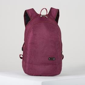 Рюкзак школьный, 2 отдела на молниях, цвет бордовый