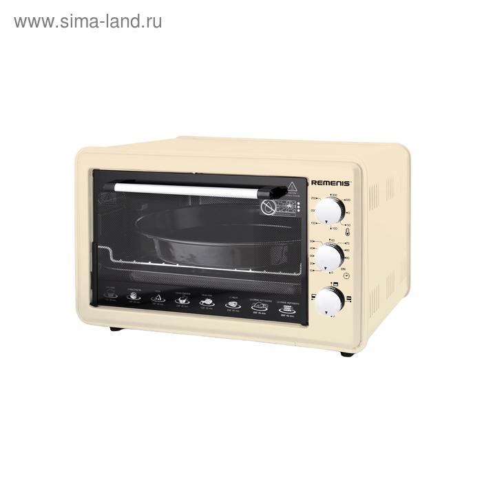 Мини-печь REMENIS REM-5000, 1500 Вт, 36 л, 3 режима, таймер, бежевая