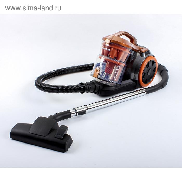 Пылесос REMENIS REM-4550, 2600 Вт, всасывание 540 Вт, мультициклон, 4 л, оранжевый