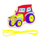 Деревянная игрушка-шнуровка «Трактор»