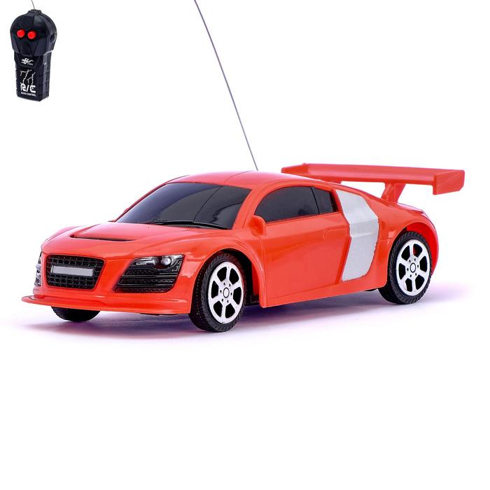 Машина радиоуправляемая «Купе», работает от батареек, цвет красный