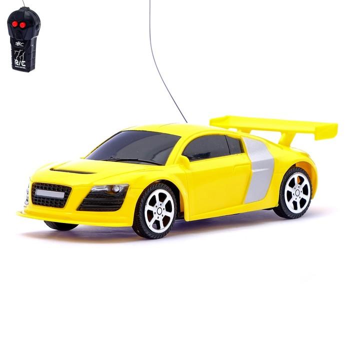 Машина радиоуправляемая «Купе», работает от батареек, цвет жёлтый