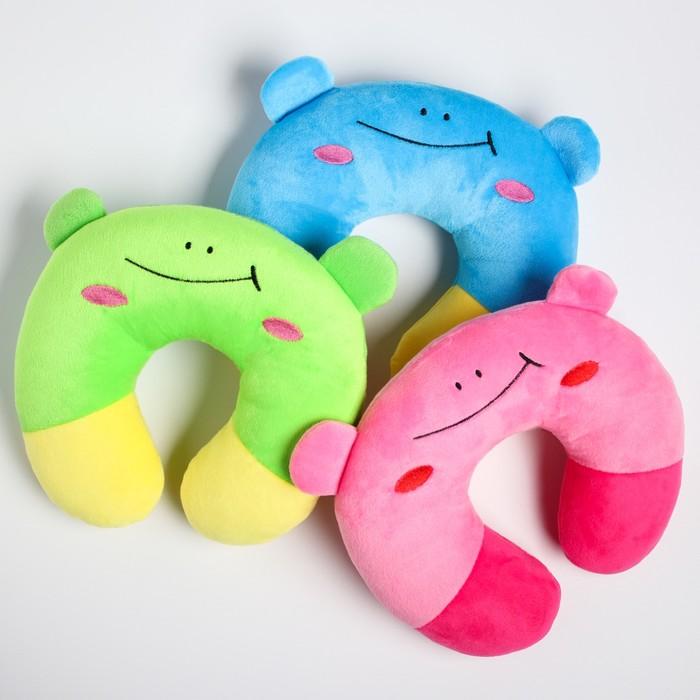 Детская подушка для путешествий «Улыбка», цвет МИКС