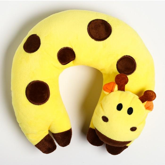 Детская подушка для путешествий «Жираф», цвет желтый