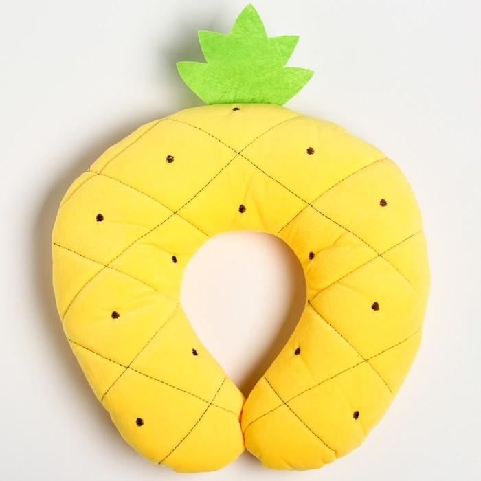 Детская подушка для путешествий «Ананас», цвет желтый
