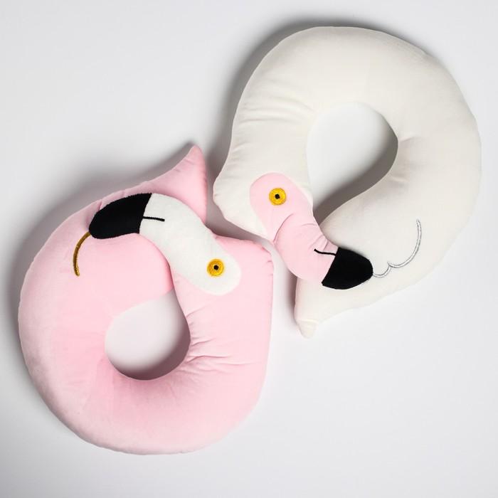 Детская подушка для путешествий «Фламинго», цвет МИКС
