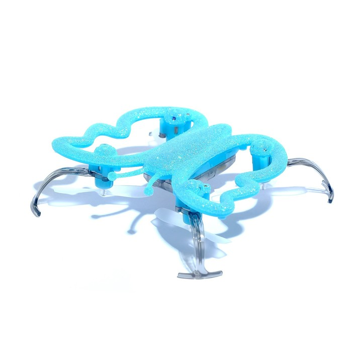 """Квадрокоптер """"Бабочка"""", радиоуправляемый, цвет голубой"""