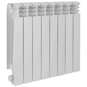 Радиатор алюминиевый TENRAD, 500 x 80 мм, 8 секций
