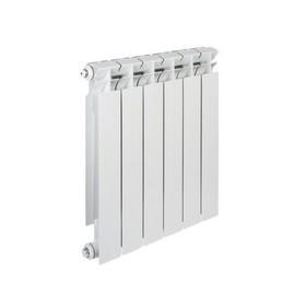 Радиатор биметаллический TENRAD, 500 x 80 мм, 6 секций