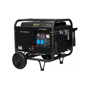 Генератор бензиновый Hyundai HY 7000SE, 5.5 кВт, 220 В, ручной/электростартер