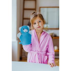 Мочалка-варежка детская с петелькой 'Мишка' Ош