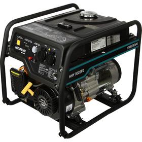 Генератор газовый Hyundai  HHY 7020FGE, 5.5 кВт, 220 В, ручной/электростартер, бензин/газ
