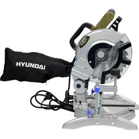 Торцовочная пила Hyundai M 1500-210, 1.4 кВт, 90°/45° 120х63/80х42 мм, d 25.4х210 мм