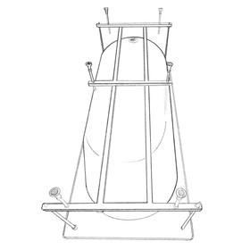 Каркас для ванны Eurolux TARANTO E5180120051, 180x120 см, усиленный