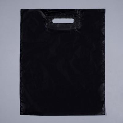 Пакет черный полиэтиленовый с вырубной ручкой купить иваново полотенца оптом