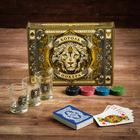 Подарочный набор «Король покера», рюмки, карты для покера, фишки