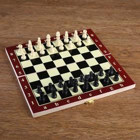 Игра настольная 'Шахматы', доска дерево 24х24 см микс Ош