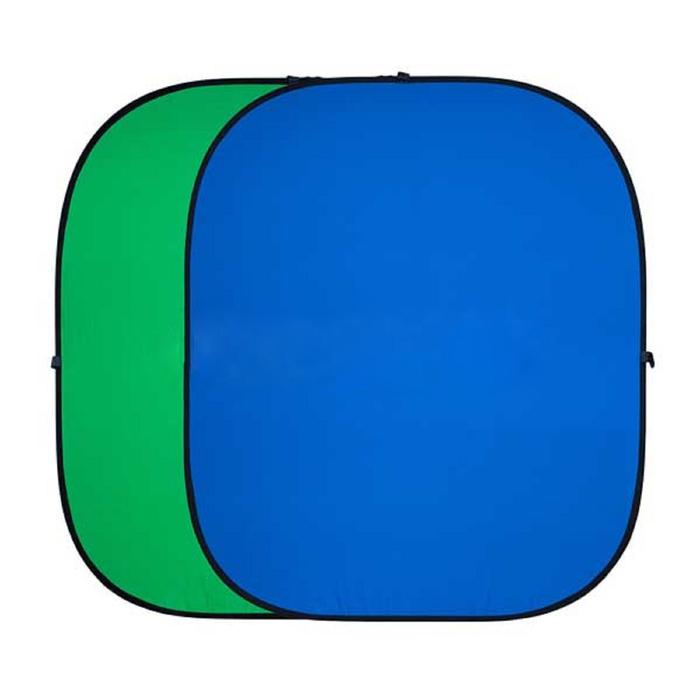 Двухсторонний тканевый фон хромакей Twist, 180 × 210 см, цвет синий / зелёный