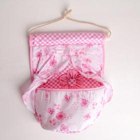 Органайзер с карманами подвесной «Цветочный», 1 отделение, 26×22 см, цвет МИКС Ош