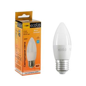 Лампа светодиодная Ecola Light candle LED, 7 Вт, E27, 2700 K, 103 x 37 мм