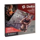 """Весы напольные DELTA D-9222/1, электронные, до 180 кг, 2хААА, стекло, картинка """"фитнес"""" - Фото 4"""