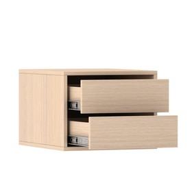 Блок ящиков для шкафов-купе 1400 × 600 мм и 2100 × 600 мм, цвет дуб молочный Ош