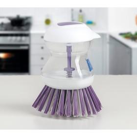 Щётка с дозатором для моющего средства Titiz, 8×10 см, цвет МИКС