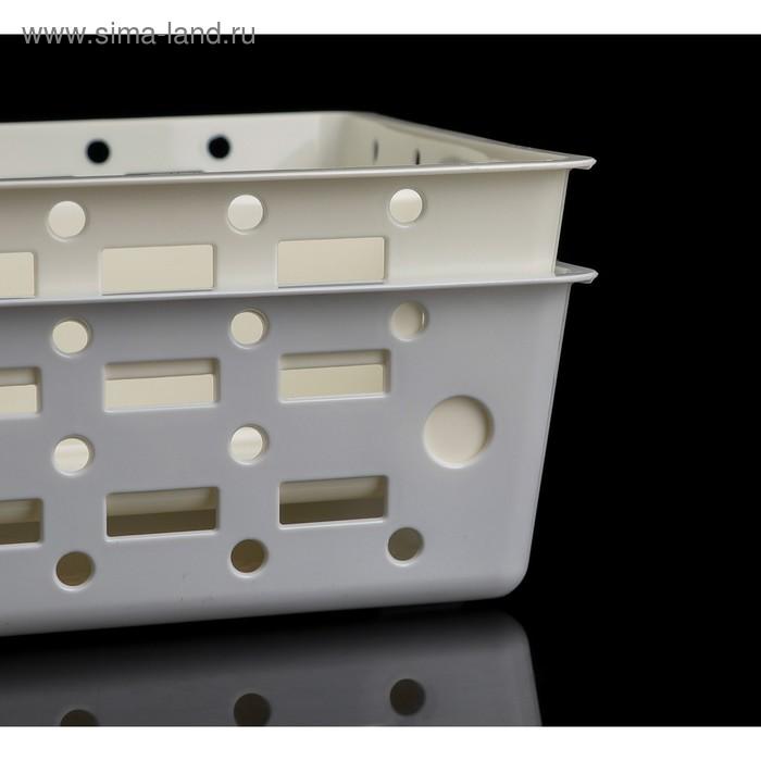 Органайзер для холодильника 32×23×8 см, цвет МИКС