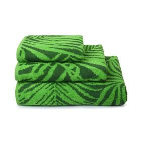 Полотенце махровое Tropical color, 50х90 см, цвет зелёный