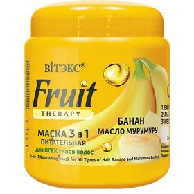 Маска для волос Вitэкс Fruit Therapy «Банан и масло мурумуру», питательная, 450 мл