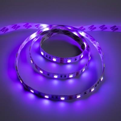 Светодиодная разноцветная лента Ecola, 60Led/m, 14.4 Вт/м, IP20, 1 м,10 мм, RGB