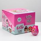 """Хрустящие хлебные шарики с кремом и игрушкой """"L.O.L."""", в шоу-боксе, 15 г"""