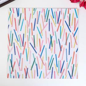 Кардсток с голографическим фольгированием Crate Paper - HOORAY