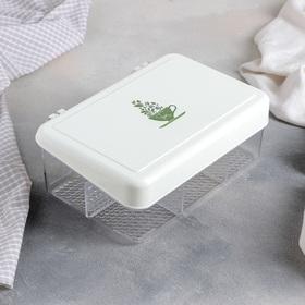 Органайзер для чайных пакетиков с крышкой QLux, 22×15×8 см, 6 ячеек, цвет МИКС
