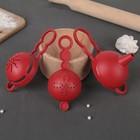 Набор для выпечки, 3 предмета: ситечко, сепаратор для яиц, воронка, цвет МИКС